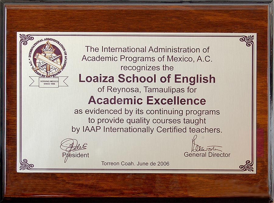 Certificado IAAPM